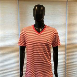 Lacoste🐊 V-neck stripe t-shirt NWT